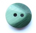 17mm Chunky Two Tone Green Sewing Button
