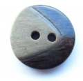 17mm Chunky Two Tone Dark Brown Sewing Button