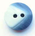20mm Chunky Two Tone Blue Sewing Button