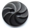 13mm Swirl Black Sewing Button