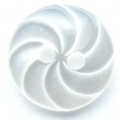 15mm Swirl White Sewing Button