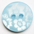 15mm Flower Light Blue Sewing Button