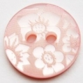 15mm Flower Pink Sewing Button