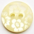 15mm Flower Cream Sewing Button