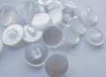 14mm White Plain Shank Sewing Button
