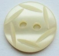 15mm Hexagon Top Cream Sewing Button