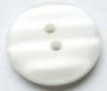 19mm Shadow Stripe White Sewing Button