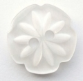 15mm Cutout Daisy White Sewing Button