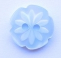 15mm Cutout Daisy Light Blue Sewing Button
