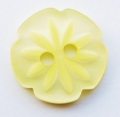 15mm Cutout Daisy Lemon Sewing Button