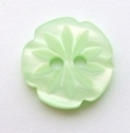 15mm Cutout Daisy Light Green Sewing Button