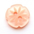 15mm Cutout Daisy Peach Sewing Button