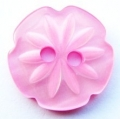 15mm Cutout Daisy Pink Sewing Button