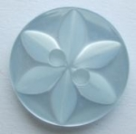 11mm Star Center Light Blue Sewing Button