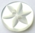 100 x 14mm Star Center White Sewing Buttons
