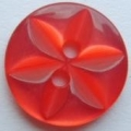 100 x 14mm Star Center Red Sewing Buttons