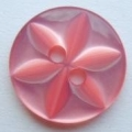 100 x 14mm Star Center Cerise Pink Sewing Buttons
