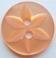 100 x 14mm Star Center Orange Sewing Buttons
