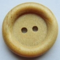 22mm Wood Round Sewing Button
