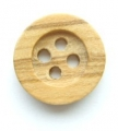 12mm Wood Round 4 Hole Sewing Button