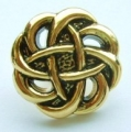 15mm Filigree Gold Sewing Button