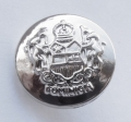 15mm Military Style Silver Sewing Button