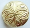 17mm Fancy Gold Sewing Button