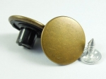 16mm Bronze Metal Jeans Button with Pin