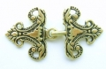 Gold Frog Fastener Clasp 25mm Metal 2 Piece Set