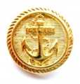 22mm Gold Anchor Sewing Button