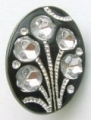 15mm Diamante Effect Oval Sewing Button