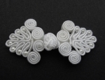 White Frog Fasteners Clasp 33mm Fabric 2 Piece Set