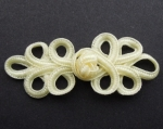 Cream Frog Fasteners Clasp 25mm Fabric 2 Piece Set