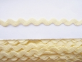 10mm Cream Ric Rac Ribbon