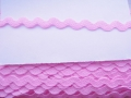 10mm Pink Ric Rac Ribbon