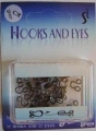 Hooks And Eyes Fasteners Black 2 Size 10-11mm
