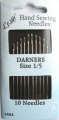 Long Darners Sewing Needles Size 1-5