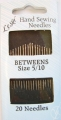Betweens Sewing Needles Size 5-10