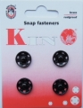 Sew On Snap Fasteners Black 14mm Size 7