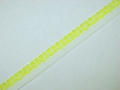17mm Lemon and White Edging Flat Lace