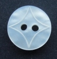 10mm Star Pattern White Sewing Button