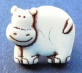 Novelty Button Cow Cream 14mm