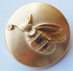 16mm Honey Bee Gold Novelty Metal Button