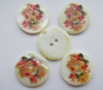 23mm Flower Pattern Agoya Shell Mother of Pearl Button