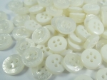 100 x 11mm Shadow Stripe Sewing Buttons 4 Hole
