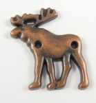 Novelty Metal Button Bronze Moose 20mm