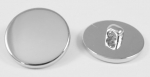 25mm Blazer Silver Sewing Button 1 Inch