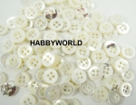 9mm Ivory Mother Of Pearl MOP Real Shell Button