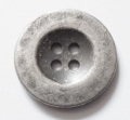 20mm Silver Black Metal Button 4 Hole