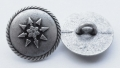 15mm Round Star Shank Metal Button